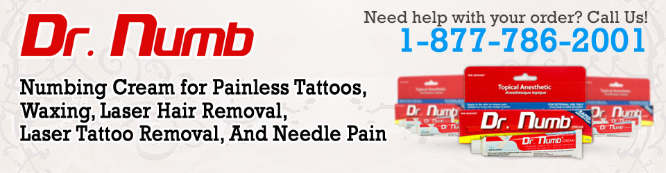 #1 Tattoo Numbing Cream recommended for waxing and